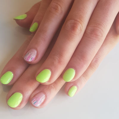 Kiara Sky Green Manicure in Polished Beauty, Skin & Laser Experts in Tallow in West Waterford - www.polishedtallow.ie