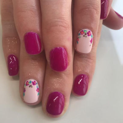 The Gel Bottle Fuschia Manicure in Polished Beauty, Skin & Laser Experts in Tallow in West Waterford - www.polishedtallow.ie