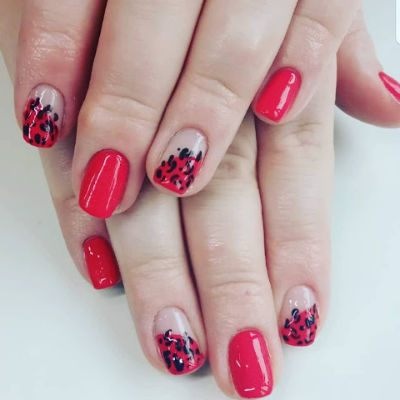 The Gel Bottle Ladybird Manicure in Polished Beauty, Skin & Laser Experts in Tallow in West Waterford - www.polishedtallow.ie